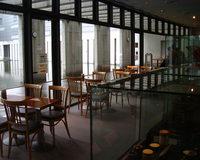 史料館ア内のカフェ