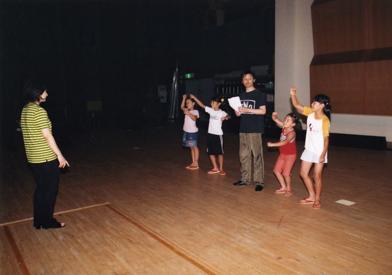 宇和町の子供たちと練習