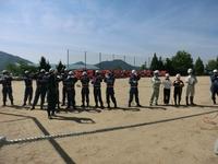 2015 熊野町消防団水防技術習得訓練実施-1 ロープの結索