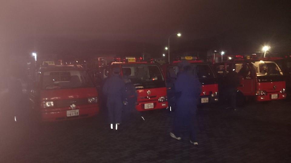 熊野町消防団 年末特別警戒