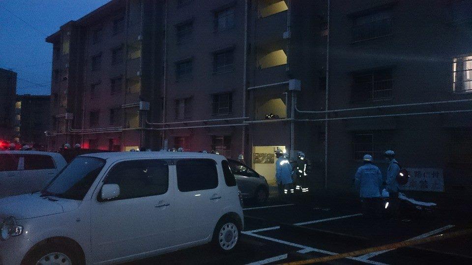 熊野町 火災発生