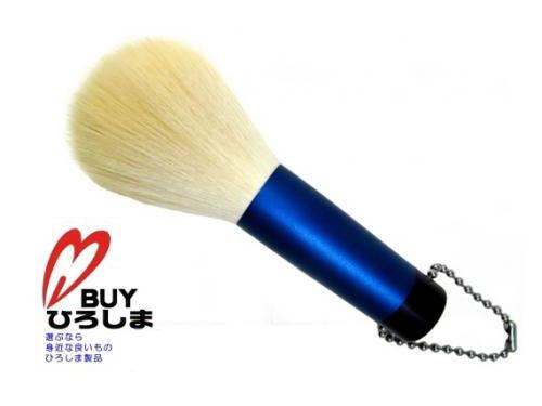 熊野筆 洗顔ブラシ中(ロイヤルブルー) 抗菌剤入