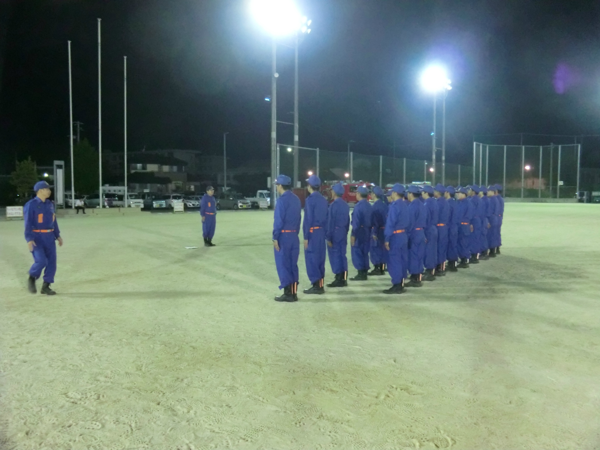熊野町消防団・規律訓練