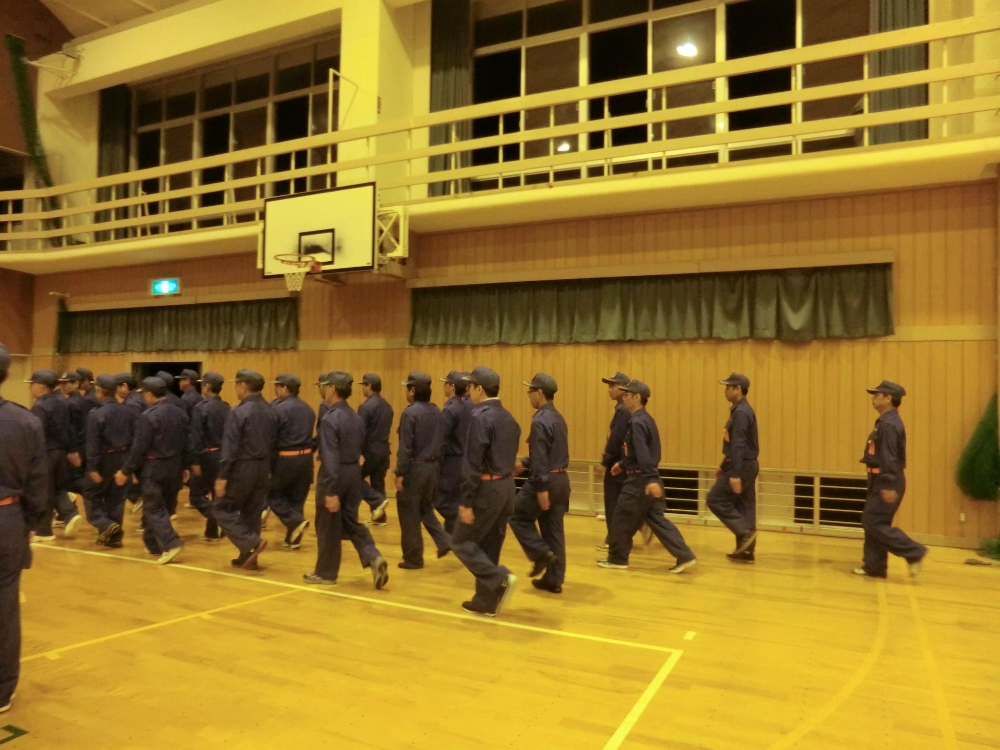 熊野町消防団・幹部規律訓練