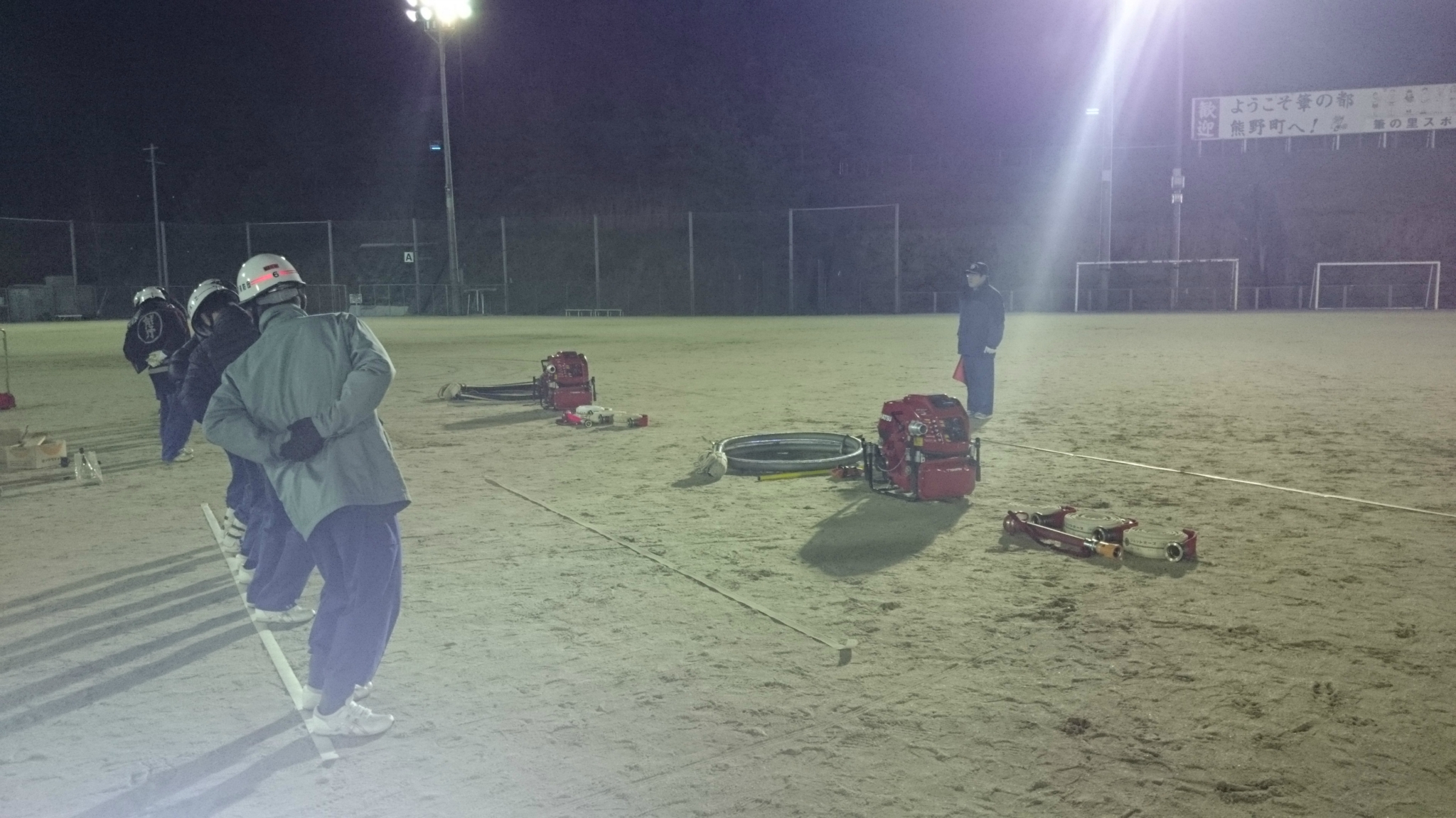 熊野町消防団 ポンプ操法訓練