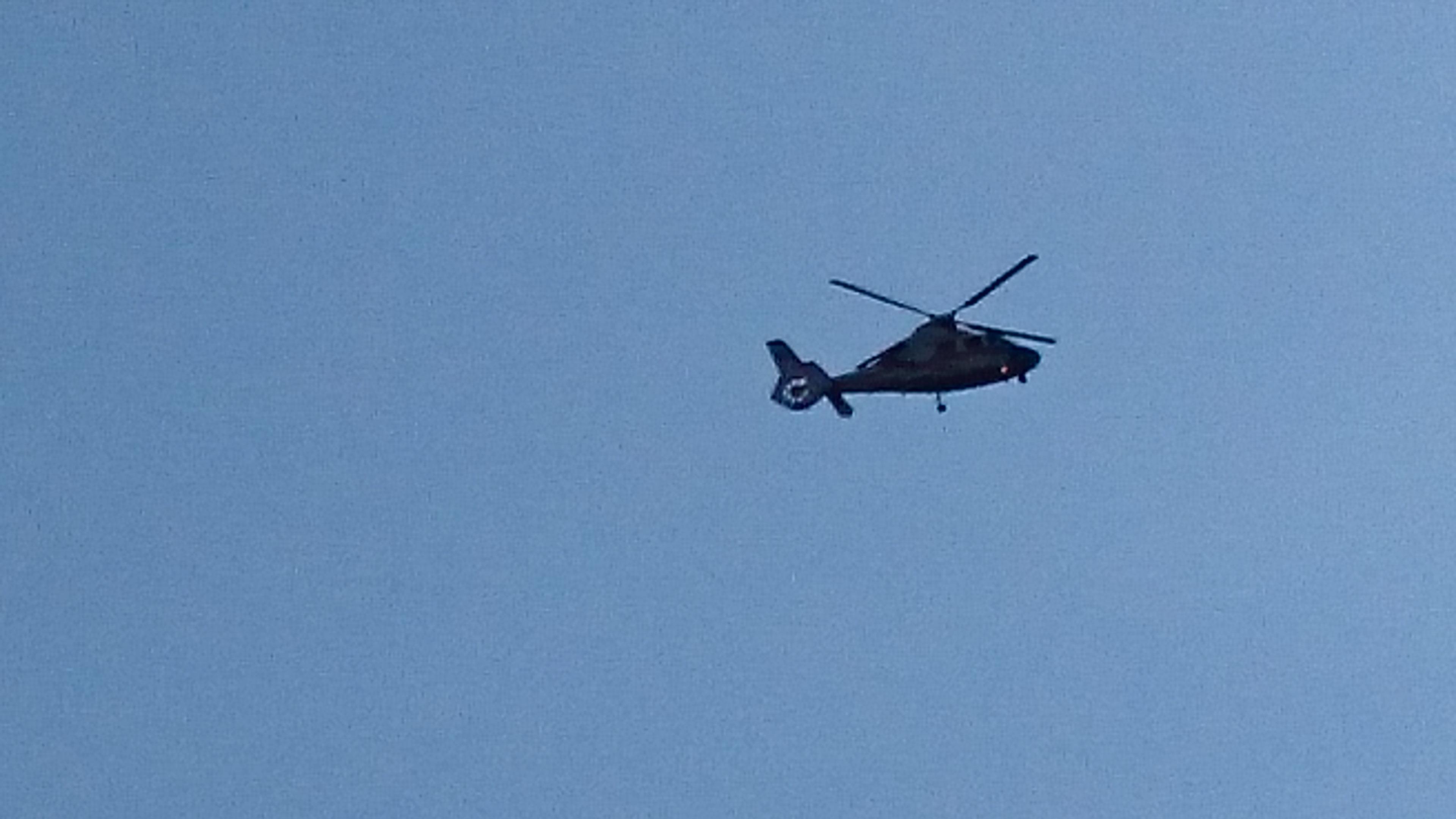 ※広島市消防ヘリコプター飛来