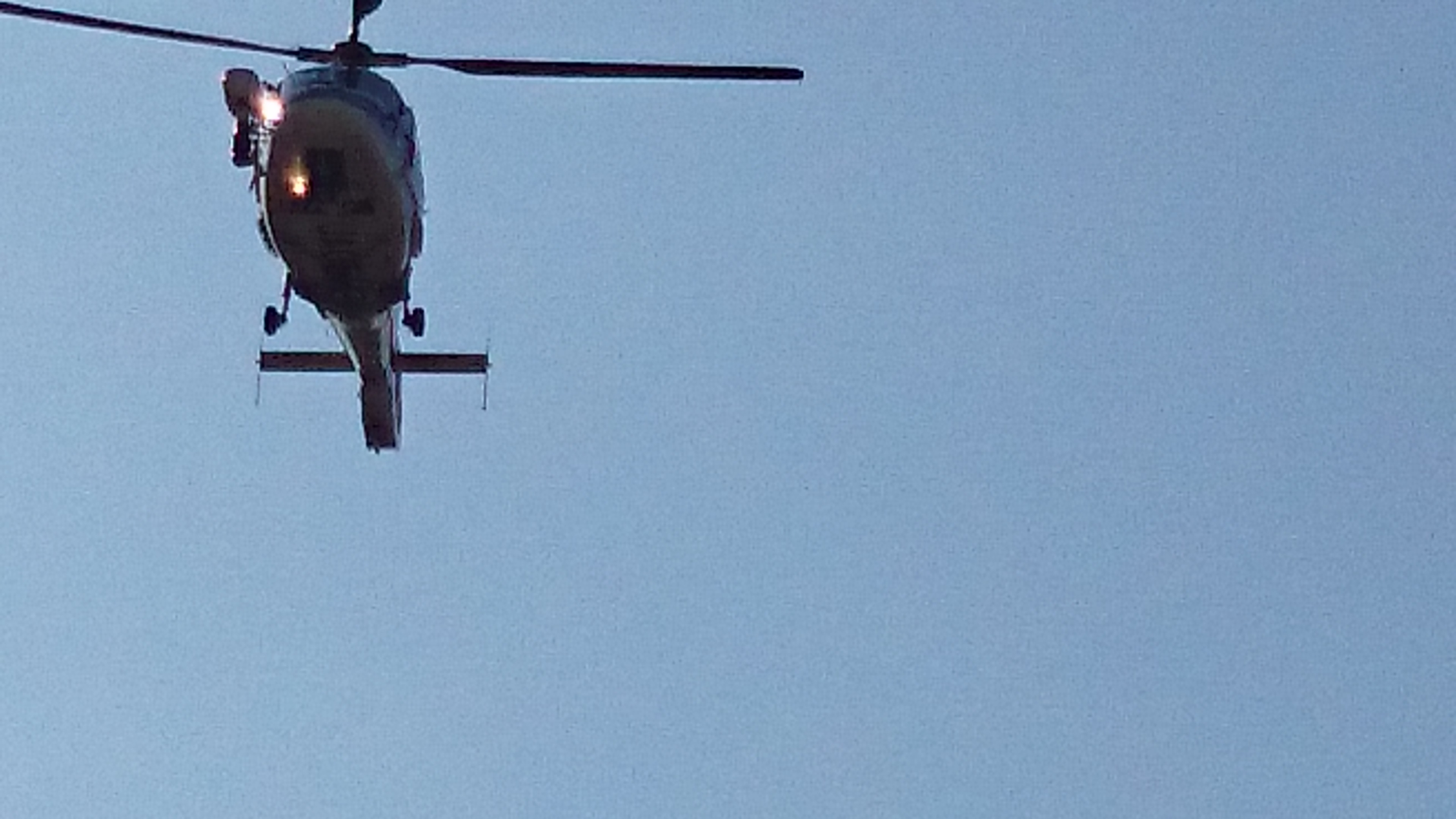 広島市消防ヘリコプター飛来