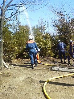 広島安芸・中野 高城山 林野火災訓練