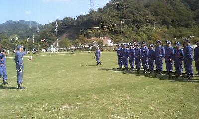 消防団初級・中級幹部教育訓練 広島・安芸郡4町