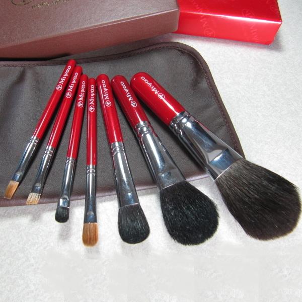 熊野化粧筆 宮尾オリジナルブラシ 携帯用7本セットスペシャル