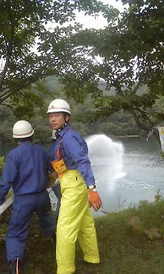 熊野町消防 合同ポンプ訓練IN呉地ダム