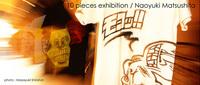 顔と擬音Tシャツのライブペンティング@松下ナオユキさん