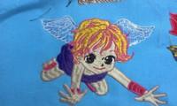 新作、オリジナル刺繍『妖精だ!』