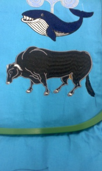 新作、オリジナル刺繍『和牛』。