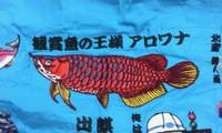 岡本洋品店、オリジナル刺しゅう、改心作『アロワナ』。