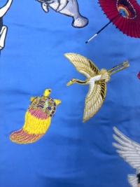刺しゅう屋、岡本洋品店、新作、オリジナル刺しゅう『鶴と亀』です。