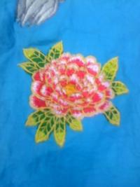 今週の一押し、刺しゅう屋、岡本洋品店、新作オリジナル刺しゅう『石南花(シャクナゲ)』。