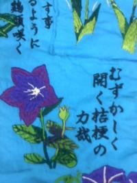 刺しゅう屋、岡本洋品店、新作オリジナル刺しゅう『桔梗(ききょう)』。