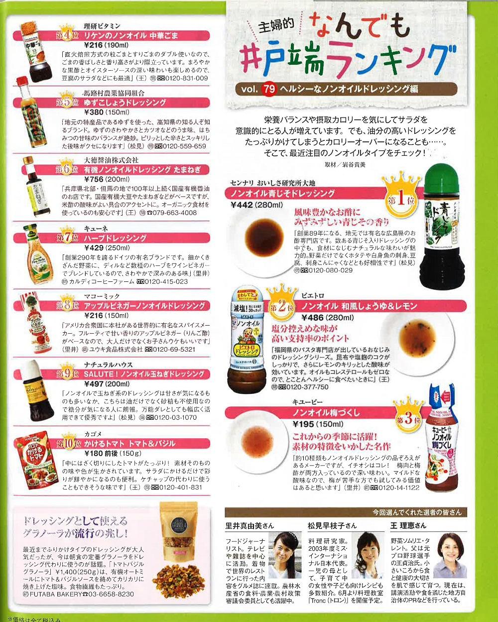 女性自身5月31日号掲載 ランキング第一位!!