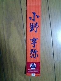 即日刺繍可!極真空手道着の帯に一本、税込み1,080円でフルネーム刺繍