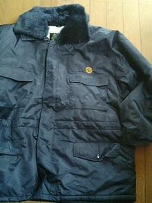 お買い上げ作業防寒コートに刺繍をお入れします。