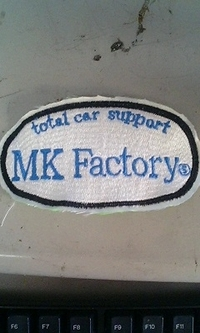 total car support MK Factory刺繍