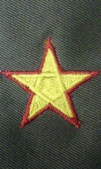 枠付きの星の刺繍を作りました。