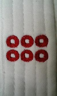 胴着に家紋の刺繍を入れる注文