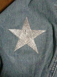 ジャケットの背中と腕部分に刺繍を入れる注文がありました。